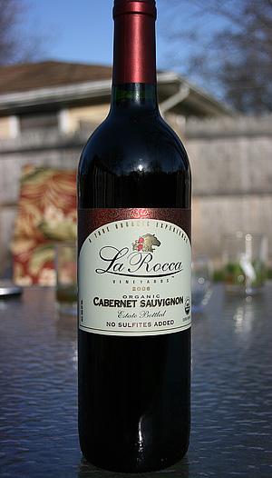 Organic Wine La Rocca Cabernet Sauvignon Sulfite Free