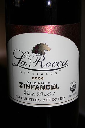 La Rocca Organic Zinfandel Sulfite Free
