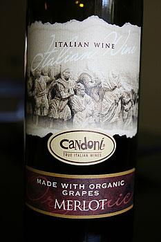 Candoni Organic Merlot Italian Wine