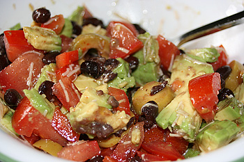 Tomato Avacado Black Bean Salad