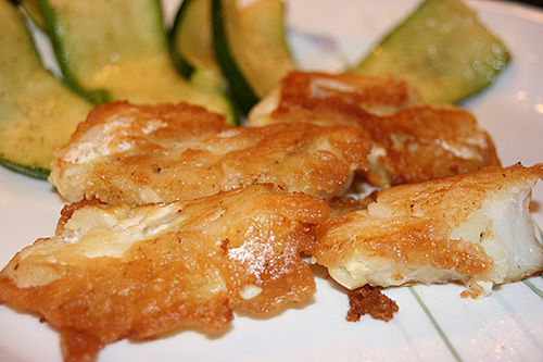 Beer Battered Fish Pan Fried in Coconut Oil