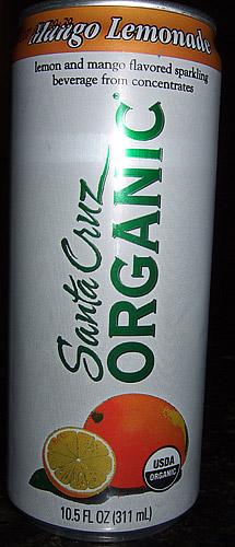 Santa Cruz Organic Mango lemonade Sparkling Soda