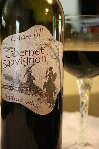 Orleans Hill Cabernet Sauvignon Organic Wine, No Sulfites Detected