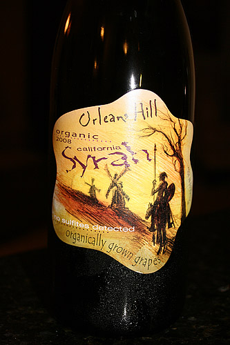 Orleans Hill Organic and Sulfite Free Syrah Wine