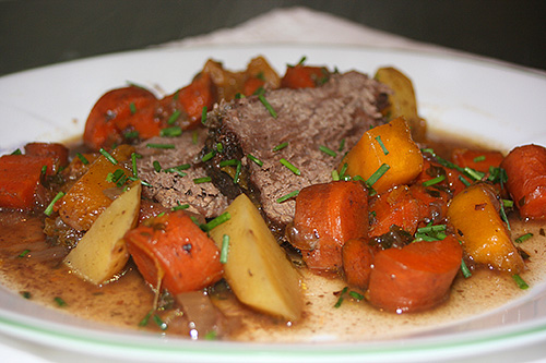 Pot Roast Recipe with Carrots, Potatoes, and Squash