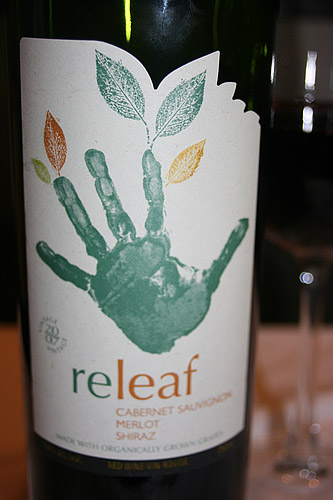Releaf Organic Cab Sav, Merlot and Shiraz Red Wine