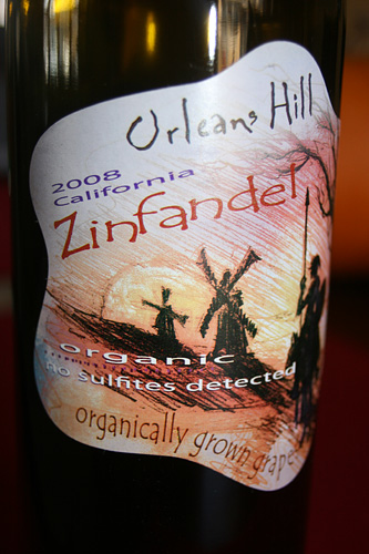 Orleans Hill 2008 Zinfandel Organic and Sulfite Free