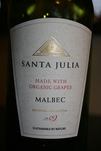 Santa Julia Organica Malbec 2009