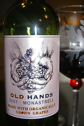Old Hands 2007 Monastrell Organic Red Wine