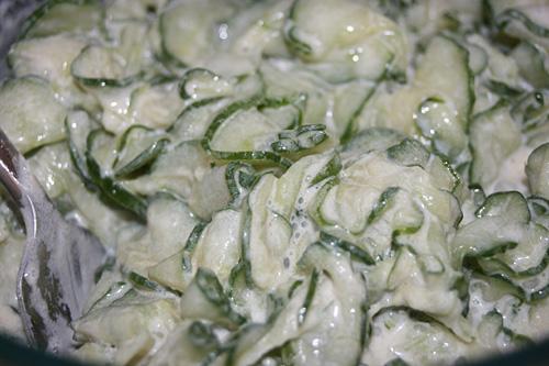 Gluten Free Creamy Cucumber Salad