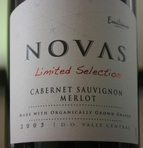 Novas Cabernet Sauvignon Merlot Organic Red Wine