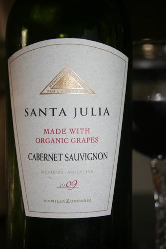 Santa Julia Organic Cabernet Sauvignon Red Wine 2009