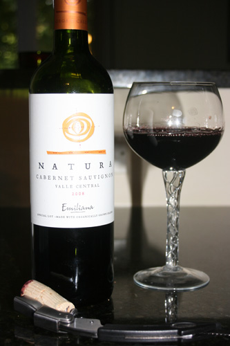Natura Cabernet Sauvignon Organic Red Wine from Emiliana