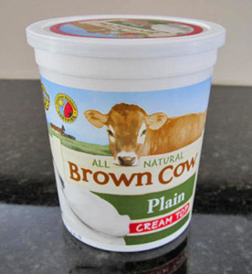 All Natural Brown Cow Plain Yogurt Cream Top