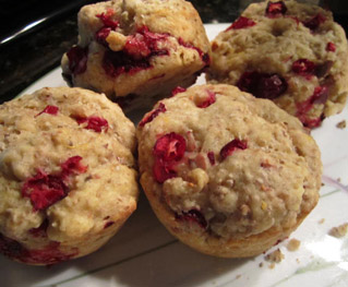 Vegan Cranberry Almond Muffins