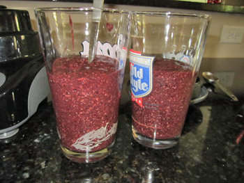 Blackberry Blueberry Chia Seed Kale Smoothie Recipe