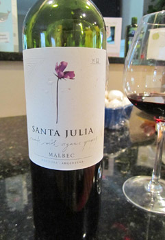 Santa Julia Malbec 2011 Organic Red Wine