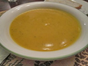 Savory Squash Soup with Butternut and Acorn Squash Recipe
