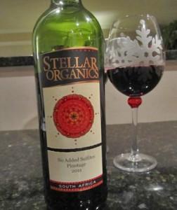 Stellar Organics Pinotage 2011 Sulfite Free Red Wine