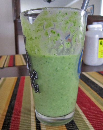 Peanut Butter Arugula Banana Smoothie