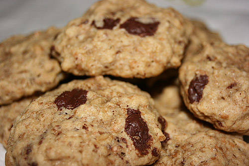 Organic Oatmeal and Chocolate Chip Cookies