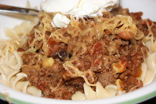 Hungry Hippo Thick Chili and Beans Recipe