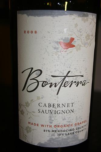 Bonterra 2008 Cabernet Savignon Organic Wine