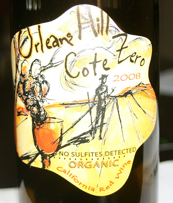 Orleans Hill Cote Zero Organic California Red Wine