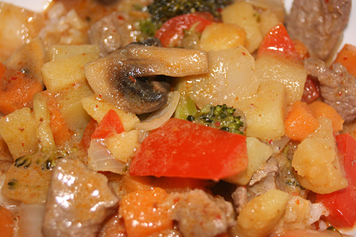 Vegetable Panang Curry with Beef