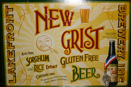 Lakefront Brewery Gluten-Free New Grist Beer