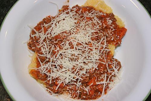 Gluten-Free Polenta with Meat Sauce