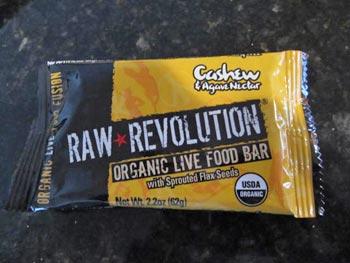 Raw Revolution Organic Live Food Bar Cashew & Agave Nectar