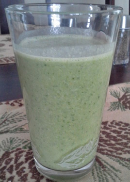 Peanut Butter Banana Spinach Smoothie